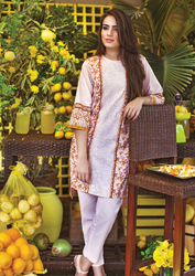 Al Karam LAWN 1 PIECE - EMBROIDERED SS-174-Peach