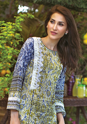 Al Karam LAWN 1 PIECE - EMBROIDERED SS-173-Blue