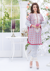 Al Karam LAWN 2 PIECE - EMBROIDERED SS-160-Grey