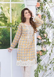 Al Karam LAWN 2 PIECE - EMBROIDERED SS-160-Beige