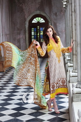 Firdous Embroidered Chiffon Vol 1 Design ECC-02