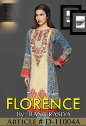 Florence Embroidered Lawn Design 11004-A