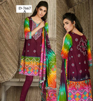 Firdous Lawn Collection Design 7667 - Purple