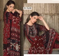 Firdous Lawn Collection Design 7638 - Maroon
