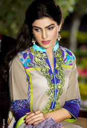 Firdous Premiere Embroidered Chiffon Dupatta Collection Design 1A