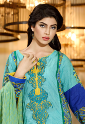 Firdous Premiere Embroidered Chiffon Dupatta Collection Design 1B