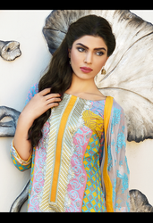 Firdous Premiere Embroidered Chiffon Dupatta Collection Design 3A
