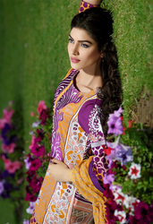 Firdous Premiere Embroidered Chiffon Dupatta Collection Design 5A
