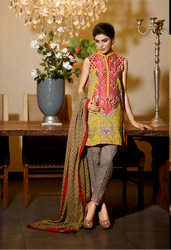 Firdous Premiere Embroidered Chiffon Dupatta Collection Design 5B