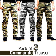 Pack of 3 Commando Pants by Tee Tall