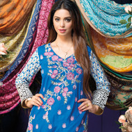 Amna Ismail Festival Collection - Blue & White - AIL-383-B