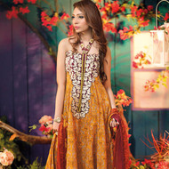 Amna Ismail Festival Collection - Fluorescent Orange - AIL-378-B