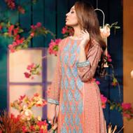 Amna Ismail Festival Collection - Peach & Blue - AIL-376-B