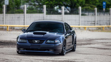 94-04 Ford Mustang Air Lift Kit with Manual Air Management- Front View