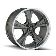 Ridler 651 Grey/Machined Lip 18X9.5 5-114.3 0mm 83.82mm