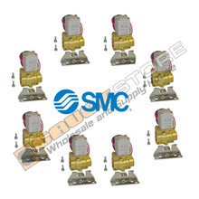 8 Pack of SMC pneumatic air valves part number VXD232BZ1DBXB