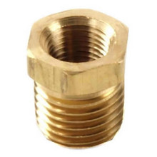 "Brass Bushing Reducer 3/8"" Mnpt To 1/4"" Fnpt"