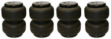 4 Airlift Dominator 2B6 1/2 Single Port 2500 Airbags (set of 4)