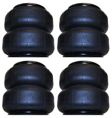 4 Airlift Dominator 2B7 Single 1/2 Port Airbags (set of 4)
