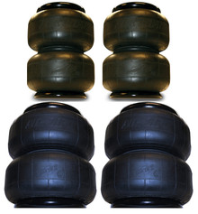 2 2B6 & 2 2B7 Airlift Dominator 1/2 Single Port 2500 Airbags,set of 4