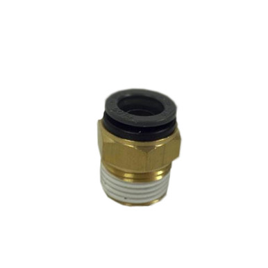 "Straight- Male 1/2"" NPT x 1/2"" Tube SMC Brass"