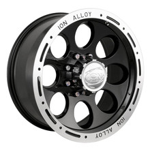 Ion Alloy 174 Series Wheels Black 15X8 5 x 120.65
