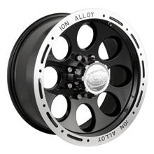 Ion Alloy 174 Series Wheels Black 16X10 8 x 170