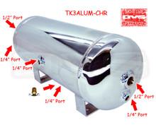 3 Gallon Aluminum Chrome Tank With 6 Ports