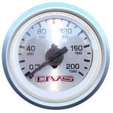 AVS Silver Single Needle Air Pressure Gauge 200psi