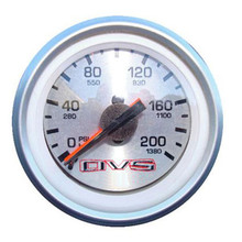 AVS Silver Dual Needle Air Pressure Gauge 200psi