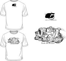 White Tee Shirt with Black Semi
