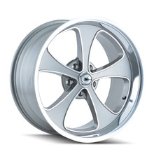 Ridler 645 Grey/Machined Face/Polished Lip 20x8.5 5-120.65 0mm 83.82mm
