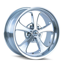Ridler 645 Chrome 17x8 5-120.65 0mm 83.82mm