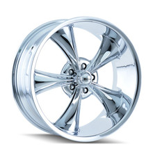 Ridler 695 Chrome 20x8.5 5-120.65 0mm 83.82mm