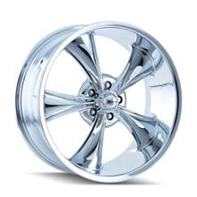 Ridler 695 Chrome 17x7 5-120.65 0mm 83.82mm
