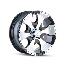 Ion Trailer Wheels 136 Black/Machined 15x6 6-139.7 0mm 108mm