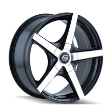 Sacchi 272 Black/Machined Face 17X7 4-100/4-114.3 42mm 67.1mm