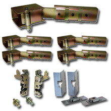 Complete Suicide Door Hinge kit w/Sm. Bear Claw Latches & Install Kit