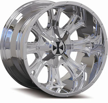 Cali Offroad 9101 Americana 22x14 Chrome -76mm 130.8