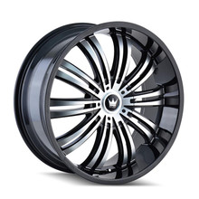 Mazzi 363 Swank Black Machined Face 22x9.5 5-127/139.7 +18mm 87