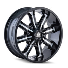 Mayhem Beast 8102 Black Milled Spokes 20x9 8x165.1/170 -12mm 130.8