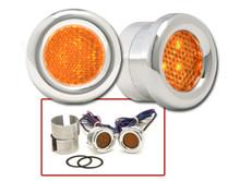 Round LED Marker Lights Amber