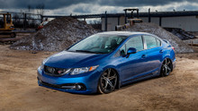 12-15 Honda Civic Air Lift Kit with Manual Air Management- Front/Side View