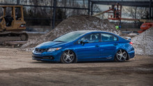 12-15 Honda Civic Air Lift Kit with Manual Air Management w/ No Rear Shocks- Side View