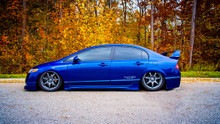 06-11 Honda Civic Air Lift Kit with Manual Air Management- Side View