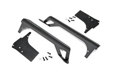 Jeep TJ Upper Windshield Light Bar Mount - Black Powder Coat