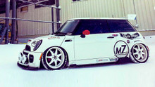 02-06 Mini Cooper Air Lift Kit with Manual Air Management- Side View