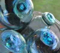 Vintage Japanese Glass Floats Stamped Marks