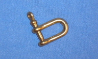 Small Solid Brass Shackle