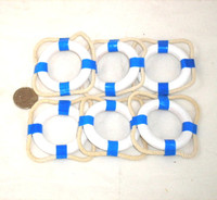 Blue Nautical Napkin Ring Buoys